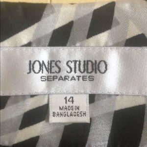Jones Studio Jackets & Coats - Jones Studio Jacket. Black grey and white. Size 14